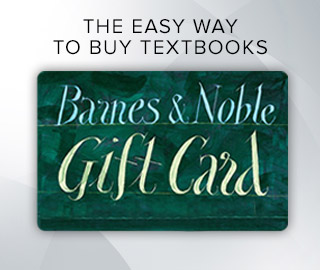 Picture of gift card. The easy way to buy textbooks. Click here to shop Barnes and Noble gift cards.